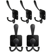 10xcoat And Hat Hook For Wall Mounted 5 Packs Hanging Dual Coat Hooks