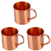 5x3 Pcs Pure Copper Mug Creative Handcrafted Durable Moscow Mule Cocktail Cup