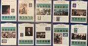 Lincoln Coin And Stamps, 1909-1958 Pennies Collection. 10 Panels
