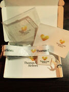 Thomas Cook Airline New Case Strap,tag,passport Cover Clear Bag Signed Letter.
