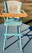 Vintage Cabbage Patch Wooden High Chair For Dolls