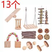 10x13 Pcs Hamster Chew Toys Natural Wooden Toys For Rabbits
