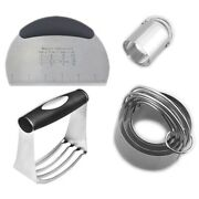 5xstainless Steel Pastry Blender Dough Cutter Biscuit Cutter Set Professional