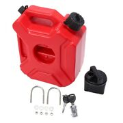 20xmotorcycle Red 3l Backup Fuel Tank Plastic Petrol Car Spare