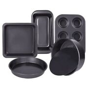 20x5-piece Baking Tray Set For Non-stick Oven L9o8