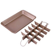 20xnon-stick Brownie Pan With Dividers Approved 18 Pre-slice Brownie Baking