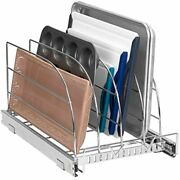 Pull Out Organizer Rack For Bakeware - Sliding Kitchen Cabinet Organizers Baking
