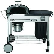 Weber Charcoal Grill Chrome-plated Steel Wheels Fixed Heat Thermometer Black