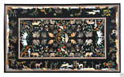 52 Marble Dining Table Top Inlay Rare Semi Antique Center Coffee Table Ar0219