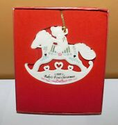 Lenox Baby's First Christmas Rocking Horse Christmas Tree Ornament 1999
