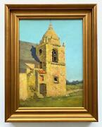 William Adam -the Bell Tower Carmel Mission Circa 1910s/20s -early California