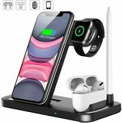 4 In 1 Qi Wireless Fast Charging Charger For Apple Watch / Iphone / Air Pod Case