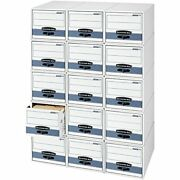 Bankers Box Stor/drawer Steel Plus Extra Space-saving Filing Cabinet Stacks Up