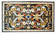 54 Marble Dining Table Top Inlay Rare Semi Antique Center Coffee Table Ar0266
