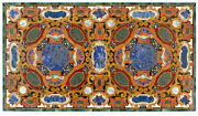 54 Marble Dining Table Top Inlay Rare Semi Antique Center Coffee Table Ar0274