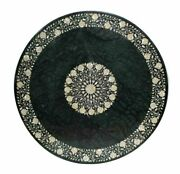 60 Marble Dining Table Top Inlay Rare Semi Round Center Coffee Table Ar0279