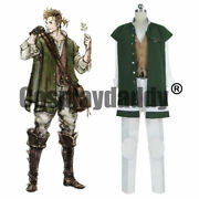 Octopath Traveler Apothecary Alfyn Greengrass Outfit Game Cosplay Costume