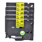 5-100pk Compatible With Brother P-touch Tz-631 Tze-631 Label Tape Yellow 12mm