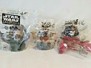 Lot Of 3 1999 Star Wars Episode I Collector Cup Topper Taco Bell Pizza Hut Kfc