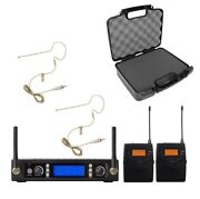 Uhf Professional Microphone Beige Headset Microphone System For Shure Wireless