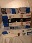Lot Of 9 Ravensburger Puzzles - See Listing Very Rare Puzzle