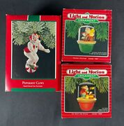 Vintage Lot Of Hallmark Christmas Ornaments Clown And Light Up