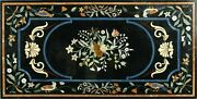 60 Marble Dining Table Top Inlay Rare Semi Antique Center Coffee Table Ar0321