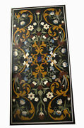60 Marble Dining Table Top Inlay Rare Semi Antique Center Coffee Table Ar0326
