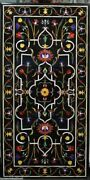 60 Marble Dining Table Top Inlay Rare Semi Antique Center Coffee Table Ar0328