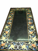 60 Marble Dining Table Top Inlay Rare Semi Antique Center Coffee Table Ar0343