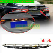 Black Rear Door Trunk Led Tail Light Cover For Toyota Camry 2018-21 Accessories