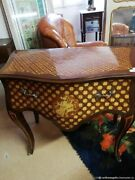 Commode Ancienne Marqueterie Bois Bronze France Antique Chest Of Drawers Marquet