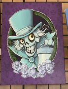 2021 Disney Parks Uminga Haunted Mansion Hatbox Ghost And His Friends Le Canvas