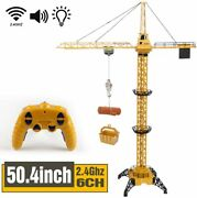 R/c Construction Crawler Crane Battery Powered Remote Control Tractor Toy Set