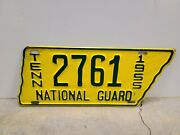 Vintage 1955 Tennessee National Guard License Plate Original Paint