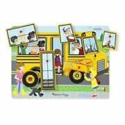 Melissa And Doug Wooden The Wheels On The Bus See And Hear Sound Puzzle