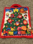 New Fisher Price Little People Fabric Soft Advent Calendar Christmas Tree Rare