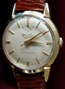Lucien Piccard Automatic Man's Wrist Watch W/ Power Reserve Ind. Gf 17j Ca.1951
