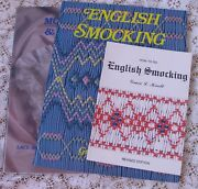 New And Oop Grace Knott English Smocking Heirloom Sewing 3 Book Lot 2 Oop