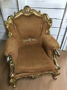 Antique Authentic European Victorian French Provincial Arm Chair