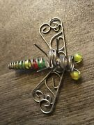 60x Vintage Beads And Metal Wire Dragonfly Christmas Lights 6 Ropes 10 Per Rope