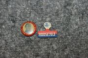 Rare Lot-2 Franklin D.roosevelt Fdr More Than Ever Campaign Button And Bar Pin