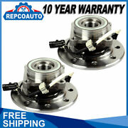 Front Wheel Bearing And Hubs Pair For Chevy Gmc K2500 Suburban K3500 K1500 W/abs