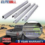 4x Truck Bed Support Rails For 1999-2017 Ford Super Duty F-250 F-350 W/ 8ft Bed