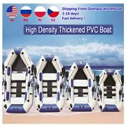 Pvc Inflatable Boat 3 Layer 2-6 Person Fishing Boats Laminated Wear-resistant
