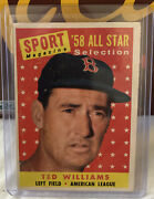 1958 Topps Ted Williams All-star 485 Red Sox Nm+ High Grade