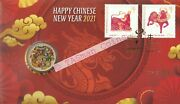 Pnc Australia/christmas Island 2021 Chinese New Year Dragon Pm 1 Coin L/e 8888
