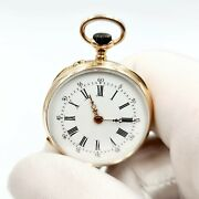 Antique Solid Gold - 19th - Pocket Watch - 18k /ct- Works - 2 Years Warranty -