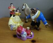 Lot Of 5 Beauty And The Beast Pvc Toy Figures Cake Topper Figurines Disney