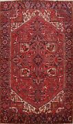 Vintage Traditional Geometric Area Rug Wool Hand-knotted Oriental Carpet 8x12